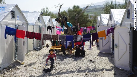 Better Shelter units in Kara Tepe transit site, Mytilene, Lesvos, Mar 2016.jpg
