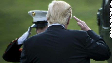 Trump, national security team head for Camp David