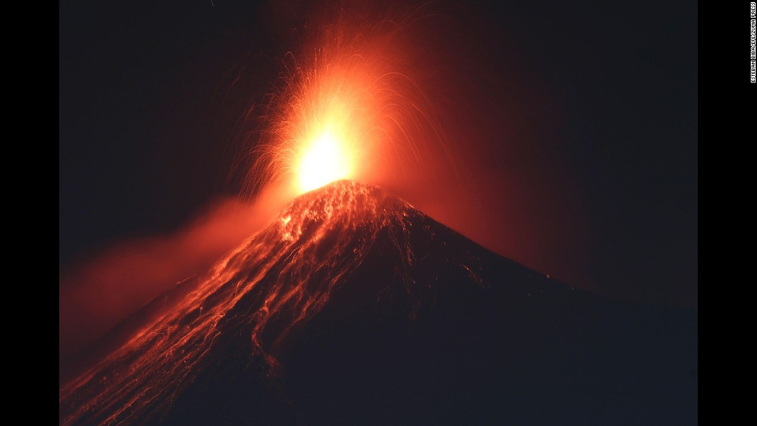 "Guatemala's ""Volcano of Fire"" erupts in Alotenango on Wednesday, January 25."