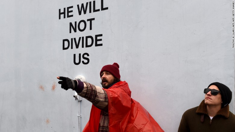 Shia LaBeouf arrested at anti-Trump protest