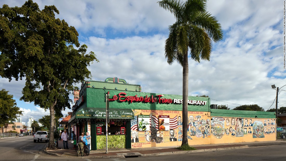 You can find classic Cuban sandwiches, black beans and white rice at La Esquina De La Fama, also on Calle Ocho, a few blocks from the cigar shop.