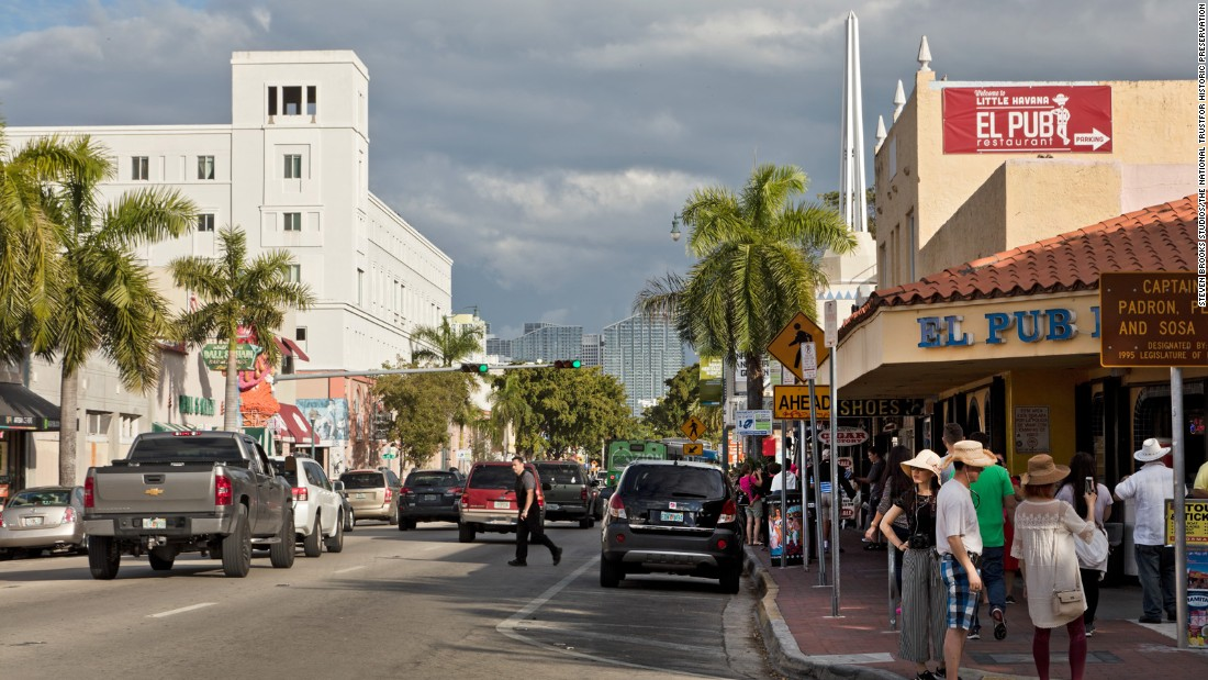 Shops, restaurants and art galleries are in the heart of Calle Ocho, Little Havana's primary business district. And yes, El Pub has classic Cuban cuisine.