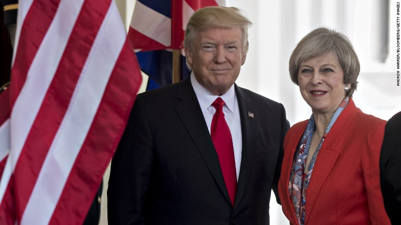 President Trump meets with PM May