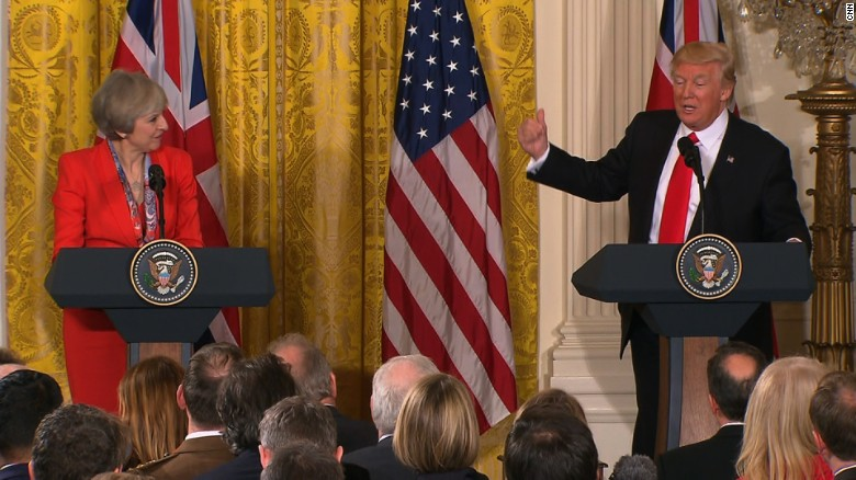 May on special relationship, Trump on torture