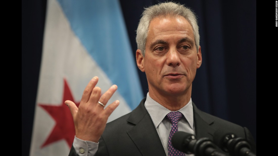 "Chicago Mayor Rahm Emanuel speaks at a news conference Wednesday, January 25, where he addressed issues related to the city's murder rate. President Trump has threatened to ""send in the Feds"" if Chicago ""doesn't fix the horrible 'carnage' going on."" Emanuel <a href=""http://www.cnn.com/2017/01/24/politics/donald-trump-chicago-carnage/"" target=""_blank"">said he welcomed the idea</a> of greater federal assistance. He said federal authorities already play an integral role in fighting crime in the city, referencing the transport of guns across state lines, among other areas."