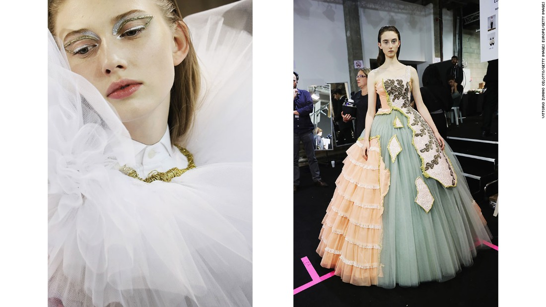 Designers Viktor Horsting and Rolf Snoeren gave new life to old and damaged couture gowns.
