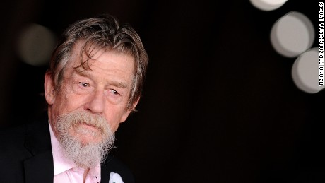 "John Hurt at a premiere of  ""Snowpierce"" in 2013."