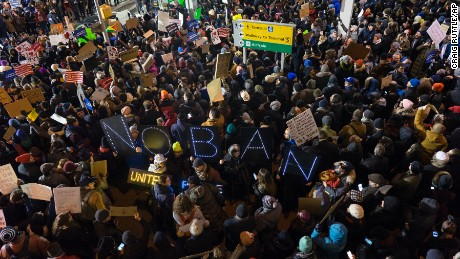 Protesters swarmed airports nationwide