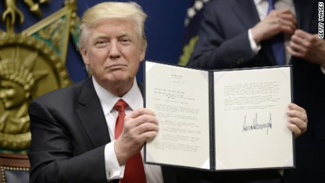 Trump order about keeping Americans safe
