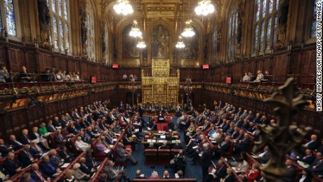 A file photo of the House of Lords chamber in session at the Houses of Parliament in London on September 5, 2016.