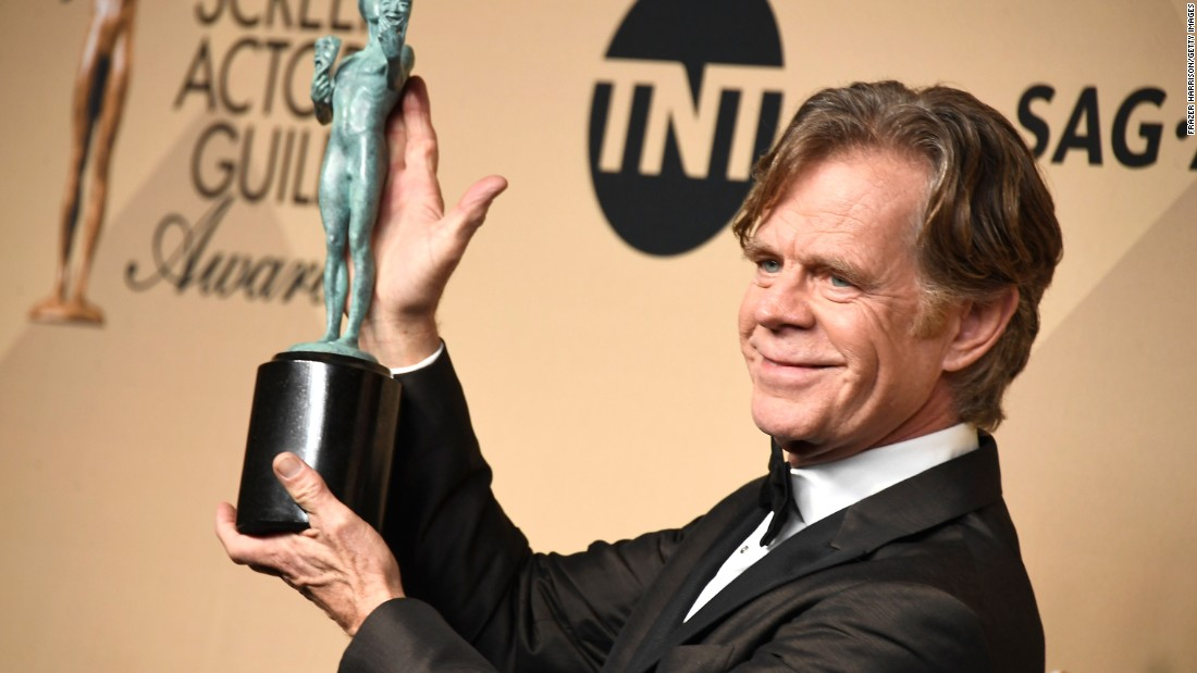 "William H. Macy, who stars in ""Shameless,"" won Outstanding Performance by a Male Actor in a Comedy Series."