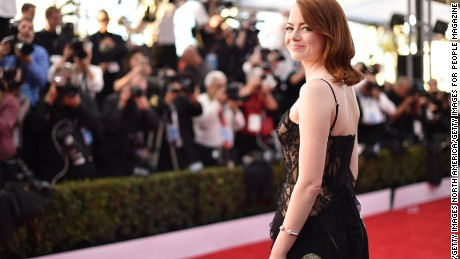 Actor Emma Stone attends The 23rd Annual Screen Actors Guild Awards at The Shrine Auditorium on January 29, 2017 in Los Angeles, California.  (Photo by John Shearer/Getty Images for People Magazine)