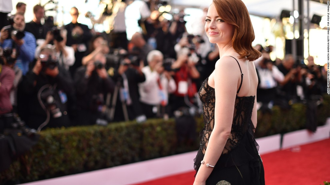 Emma Stone in the spotlight.