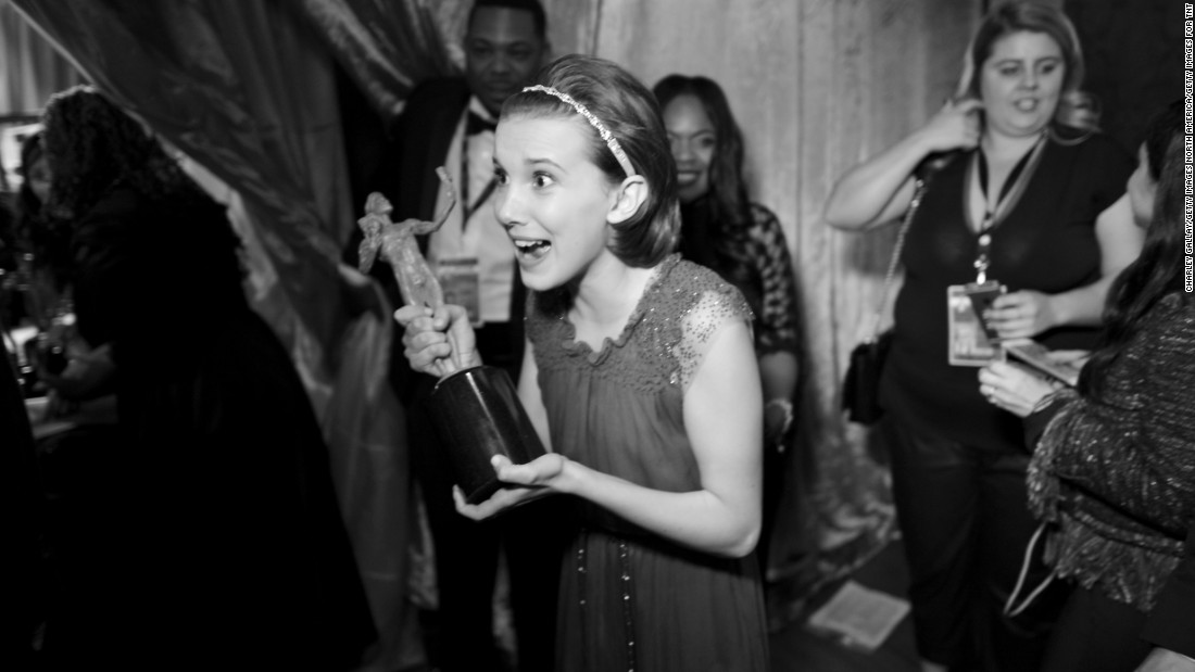 """Stranger Things"" star Millie Bobby Brown enjoying her moment."