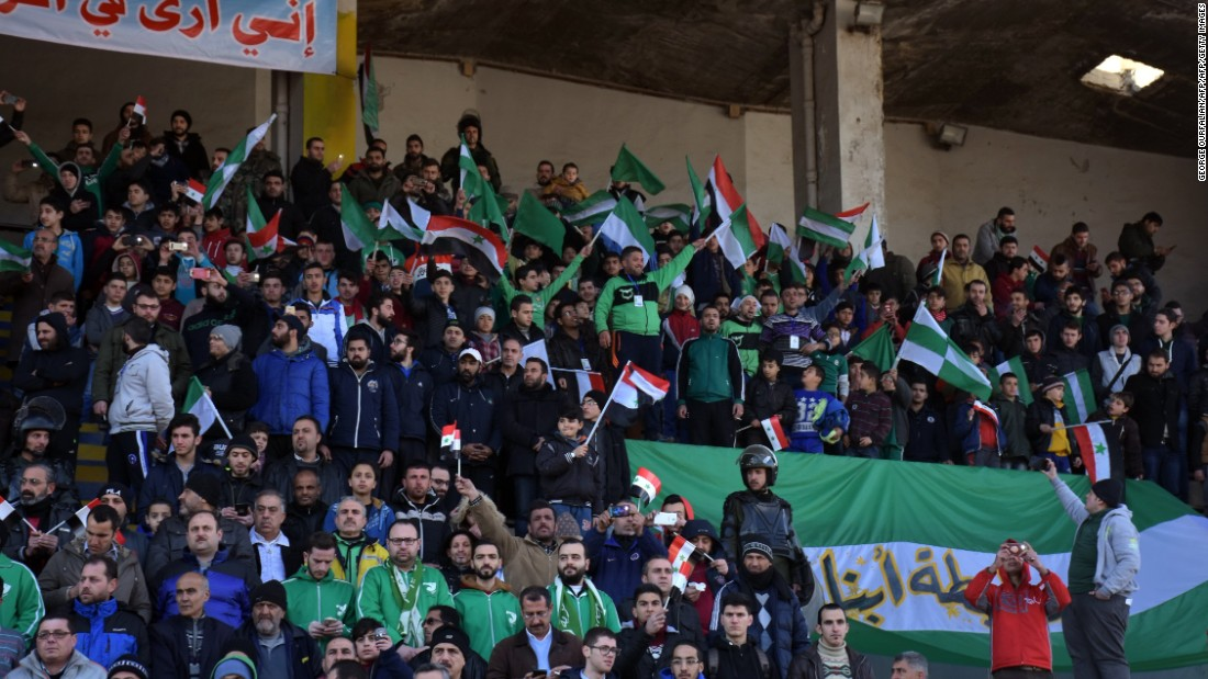 """The last match I saw was in 2010,"" Mohammed Ali, a football fan in Aleppo told AFP news agency. ""It was bigger, and there were more people. Hopefully there will be a lot of people this time."""