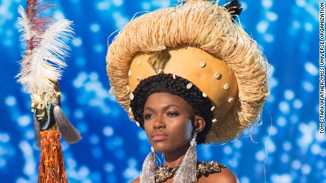 Hawa Kamara, Miss Sierra Leone 2016 debuts her National Costume on stage at the Mall of Asia Arena on Thursday, January 26, 2017.  The contestants have been touring, filming, rehearsing and preparing to compete for the Miss Universe crown in the Philippines.  Tune in to the FOX telecast at 7:00 PM ET live/PT tape-delayed on Sunday, January 29, live from the Philippines to see who will become Miss Universe. HO/The Miss Universe Organization