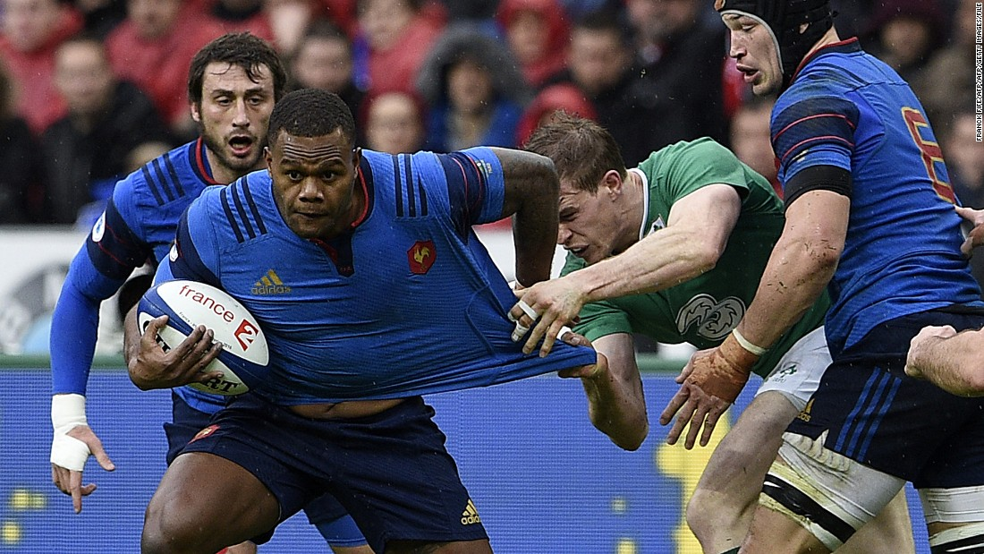 In a bid to encourage homegrown talent, France has decided it will no longer select players who don't have a French passport. However, it doesn't apply retroactively to those such as Fijian back Virimi Vakatawa (L) who have already represented Les Bleus.