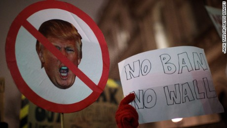 Downing Street protest on January 30 against US President Donald Trump.