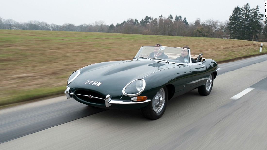 Aerodynamicist Malcolm Sayer was one of the first to apply the principles of aerodynamics to motor car design, used in Jaguar's elegant 1961 E-Type.
