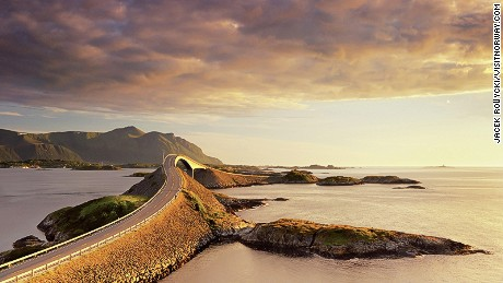 The Atlantic Road: Best enjoyed at sunset.