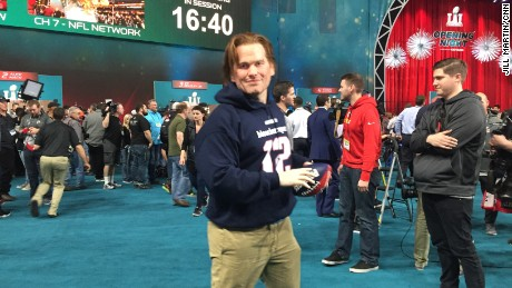 Fake Tom Brady made an appearance at Super Bowl Opening Night.