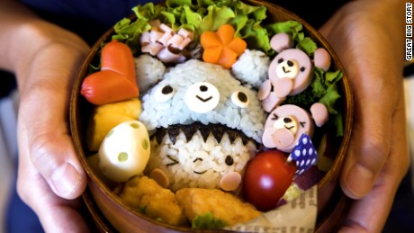 Elaborate kawaii bento boxes are commonplace in Japan.