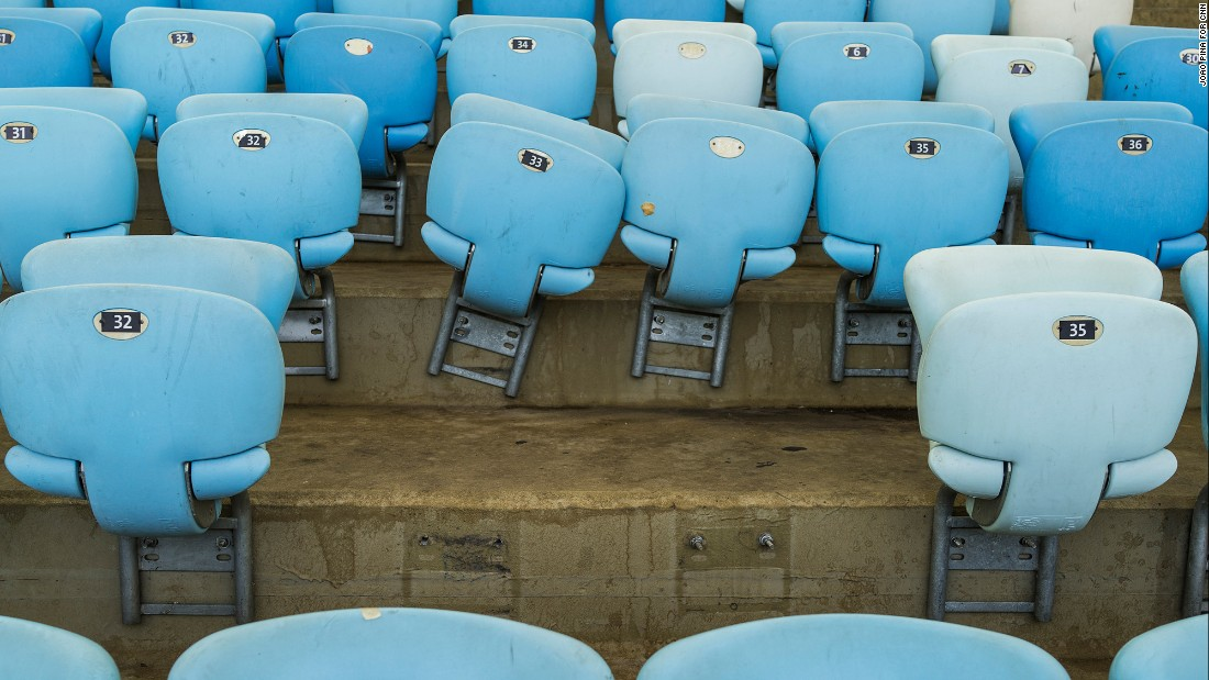 Nearly 10% of the stadium's 78,000 seats are missing.