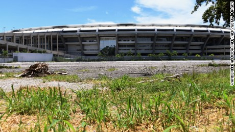 Partial view of the world-famous Maracana Stadium in Rio de Janeiro