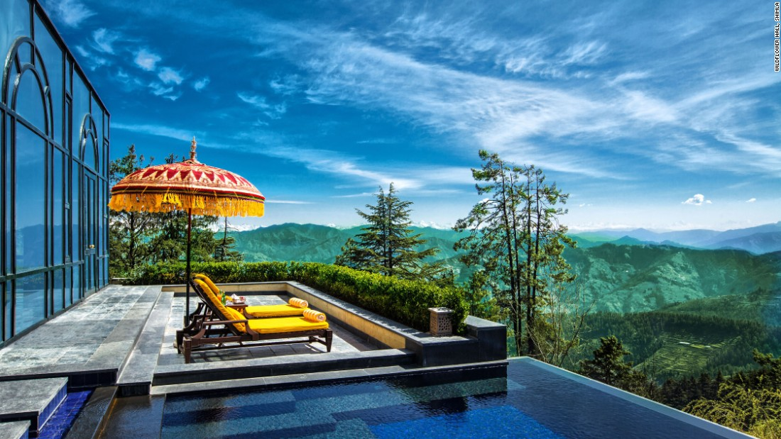 <strong>Wildflower Hall, Shimla, India: </strong>This hotel and spa sits 8,250 feet above sea level and is tucked away in the mighty Himalayan mountain range, a 45-minute drive from the Shimla, the nearest town.