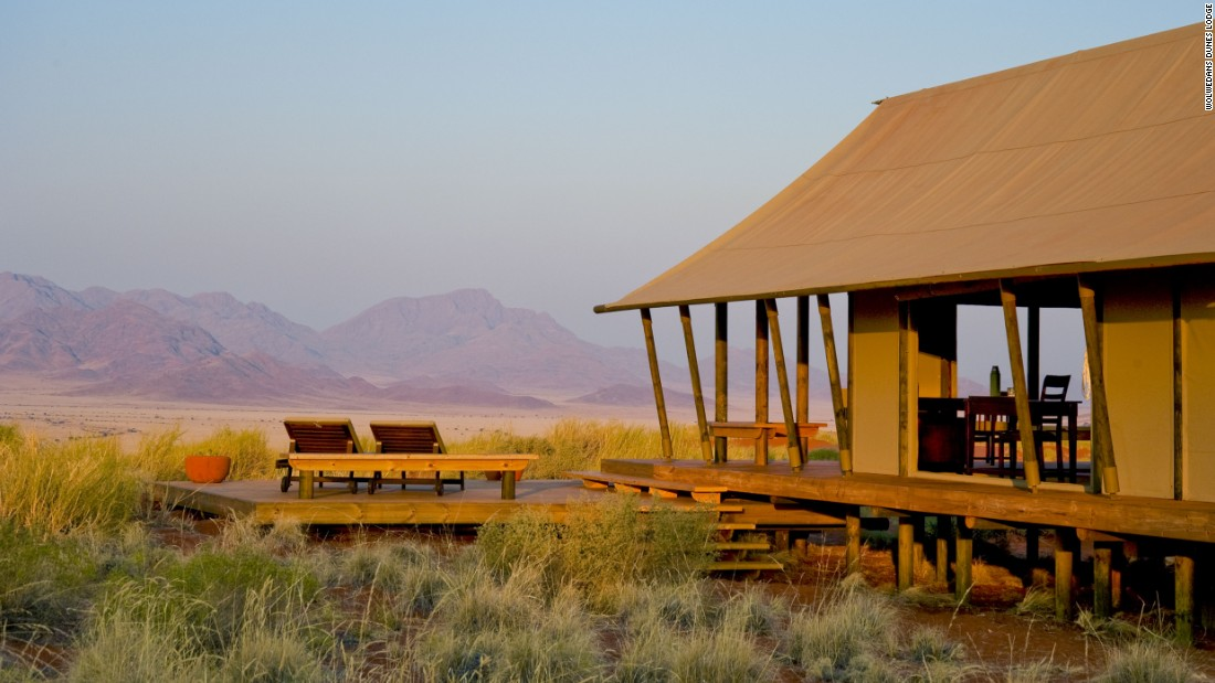 <strong>Wolwedans Dunes Lodge, Nambia: </strong>This camp is located in the heart of Namibia's 200,000-hectare NamibRand Nature Reserve, one the largest private reserves in Africa. Visitors might see giraffes, baboons, oryx, zebras, foxes and over 100 bird species.