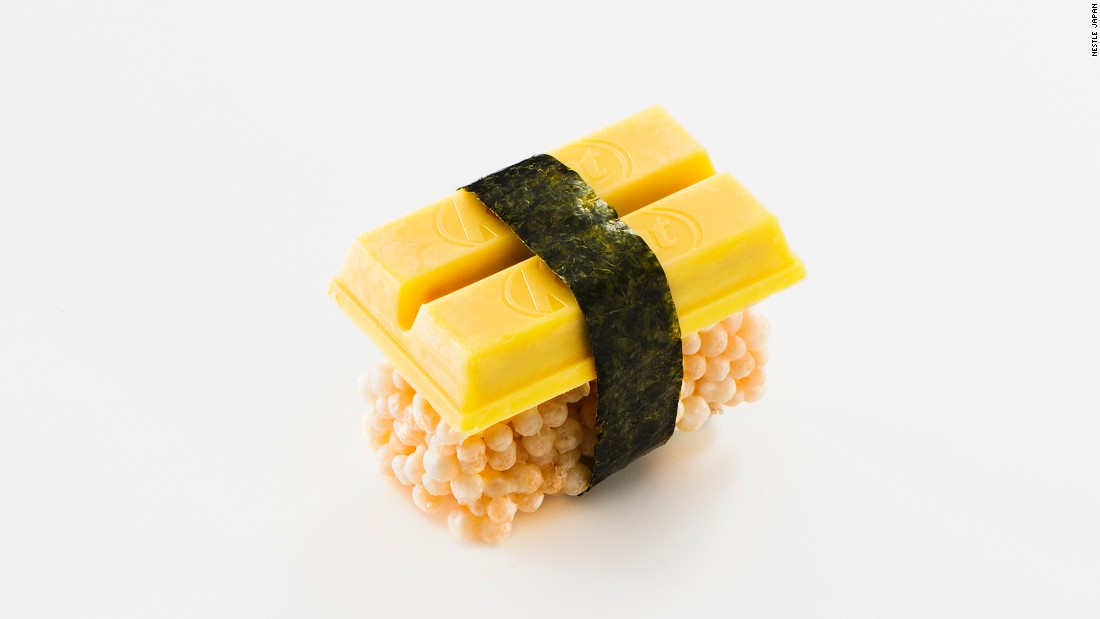 "<strong>Sushi Omelet KitKat: </strong>""A gentle taste similar to omelet that combines the sweetness of creamy pumpkin with the flavor of laver [seaweed],"" says Nestle."