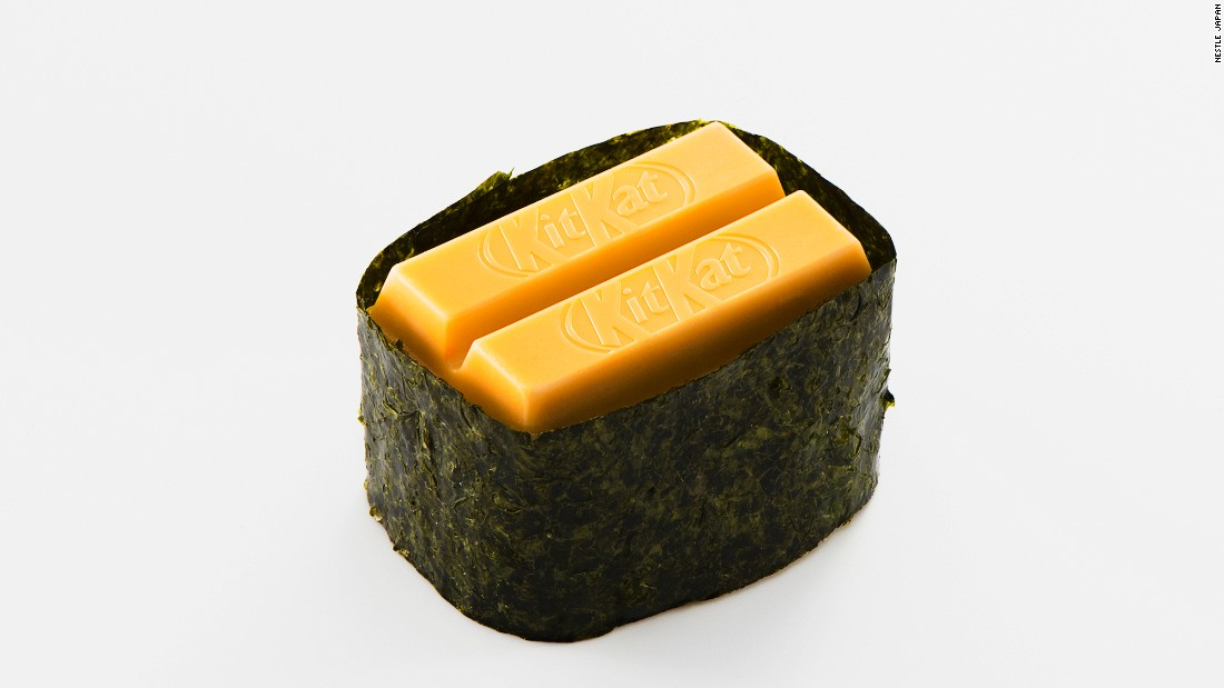 "<strong>Sushi Sea Urchin KitKat: </strong>""A rich and savory taste that combines the sweetness of Hokkaido cantaloupe with the flavors of mascarpone cheese and laver,"" says the chocolate maker."