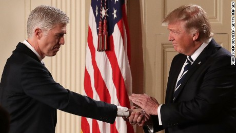 Trump urges Senate GOP to trigger 'nuclear option' on Gorsuch nomination