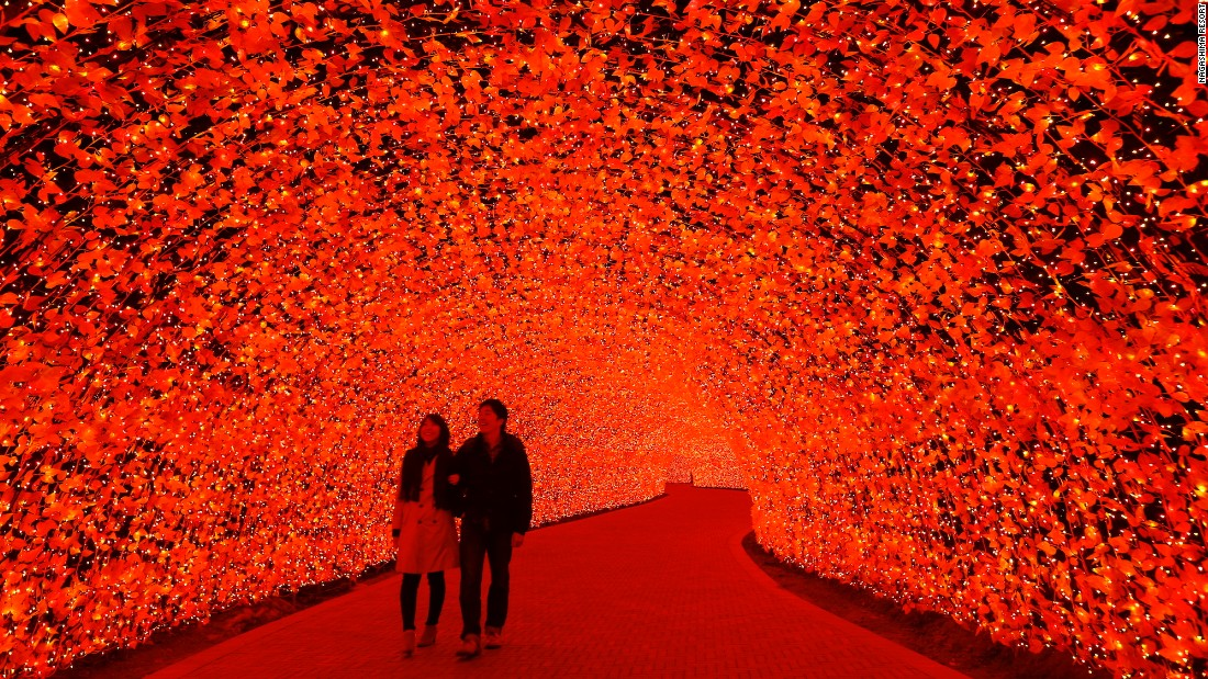 <strong>Nabana No Sato: </strong>Almost as lovely as a fall walk in the forest? This annual light festival in Japan's Mie prefecture features more than 8 million LED lights. Among the highlights is a tunnel of lights designed to look like fall leaves.