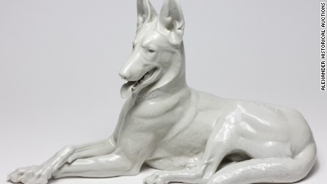 Ralph Rayner also recovered a porcelain Alsatian from Hitler's bunker that was made by slave laborers in Dachau concentration camp.
