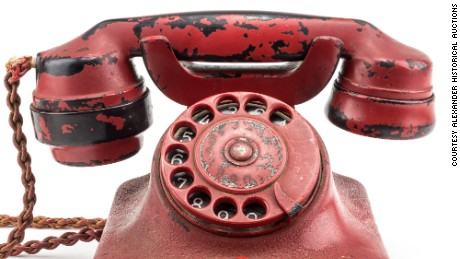 Hitler's phone, which he used during the last two years of World War II, will be sold at a US auction house later this month.