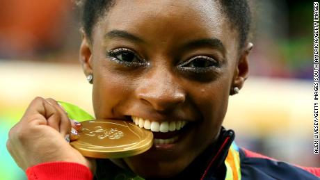 US gymnast Simone Biles won four gold medals in Rio and will be back for more in Tokyo