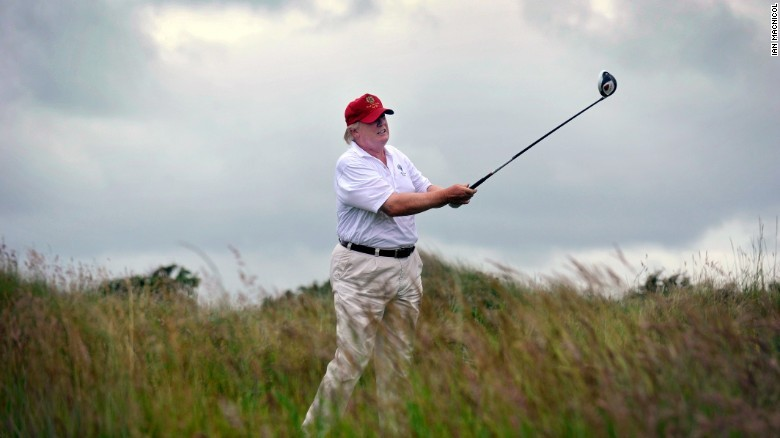 Just like Obama, Trump is a big golfer