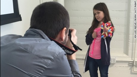A girl and her glitter-shooting prosthetic: 'You can do anything'