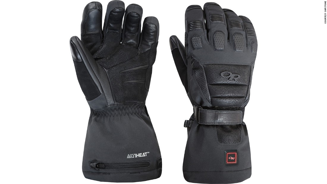 <strong>Capstone heated glove: </strong>Cold hands can become a thing of the past with a pair of these. Two re-chargeable Lithium-Ion batteries per glove fire heating elements through the fingers and the back of the hand to thaw out frozen digits.