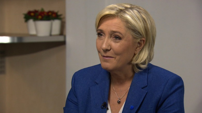 Marine Le Pen runs for French president.