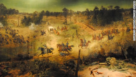 "Maj. Gen. John ""Black Jack"" Logan, seen here leading a cavalry charge, saw the painting shortly before he died."