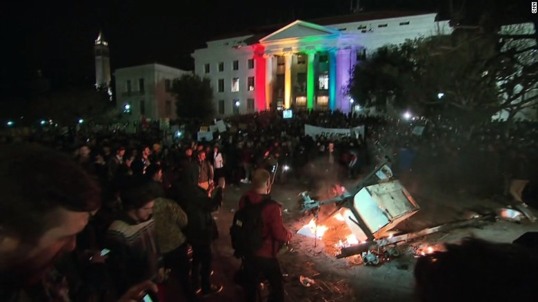 Trump slams Berkeley after violent protests