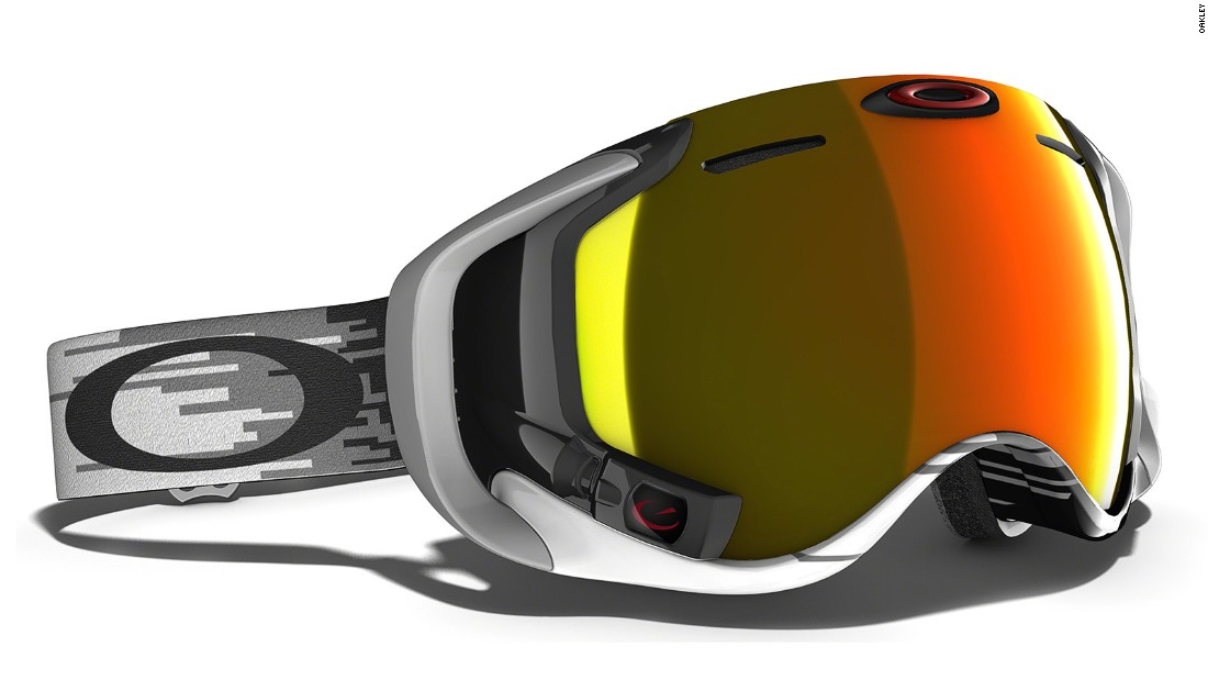<strong>Oakley Airwave 1.5 with Heads-Up Display:</strong> Imagine skiing down a slope with speed, altitude and other data shown inside goggles. Oakley has teamed up with Recon Instruments to build a digital dashboard to  provide real-time data for a range of metrics such as speed, vertical ascent, distance, altitude and temperature.