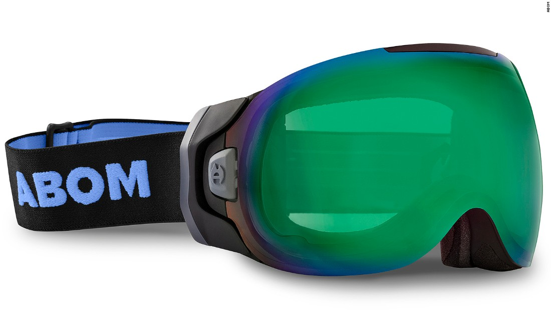 <strong>Abom anti-fog goggle: </strong>Foggy vision makes skiing difficult and dangerous. Abom has invented a new concept in anti-fog goggles using a battery to send a current though the film to heat the lens and keep the fog away. <br />