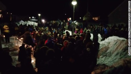 A few hundred people gathered in a vigil for Brjánsdóttir outside the Icelandic consulate in Nuuk, Greenland.