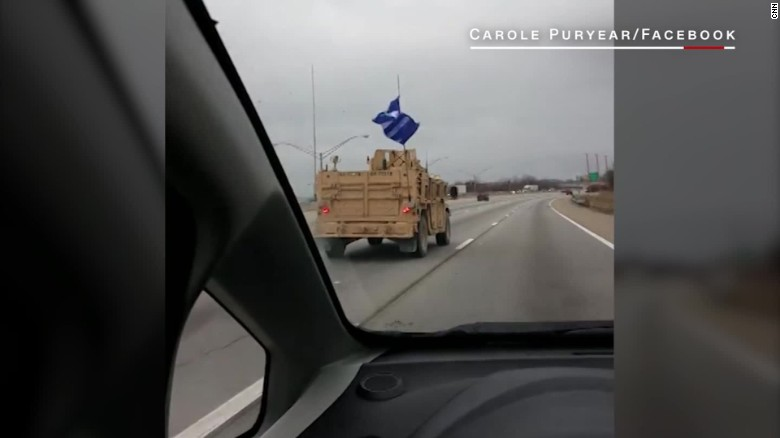 Trump flag spotted on Navy convoy_00002806