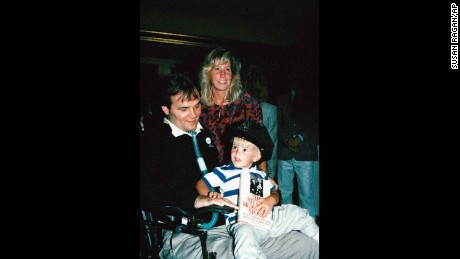 Steven McDonald, Patti Ann and Conor in a 1989 photo.