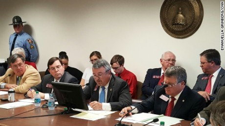 The Georgia Legislature's appropriations committee hears testimony on HB 51.