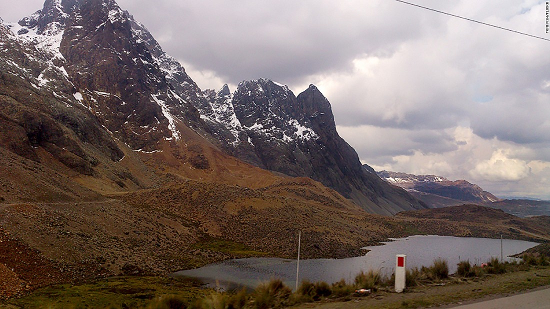 "<strong>Ticlio Pass, Peru:</strong> One for the adrenaline junkies, this hairy drive along the highest paved road in South America sweeps through the Andes and has prayer-inducing bends, suicidal wild llamas darting out of the scenery and mountains prone to landslides. (Photo credit: <a href=""https://www.flickr.com/photos/the_smileyfish/13332692724/in/photolist-mj9eEz-mjax3u-6M3AFJ-8pc7LA-8pc8iQ-8p8Xex-8pc8L5"" target=""_blank"">Toni Fish/Flickr</a>)"